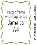 frame and border of ribbon with ... | Shutterstock .eps vector #605303588