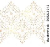 vector vintage decor  ornate... | Shutterstock .eps vector #605315348