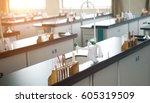 empty chemistry laboratory in a ... | Shutterstock . vector #605319509