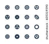cog wheels  gears vector icon... | Shutterstock .eps vector #605319590