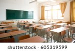 Empty Classroom With Chairs ...
