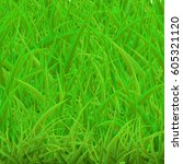 green grass background | Shutterstock .eps vector #605321120
