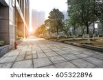 modern city road and building | Shutterstock . vector #605322896