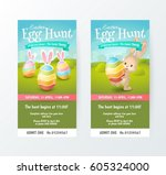 set of cute tickets for easter... | Shutterstock .eps vector #605324000