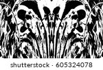 grunge black and white urban... | Shutterstock .eps vector #605324078