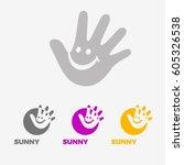 child care center logo design | Shutterstock .eps vector #605326538