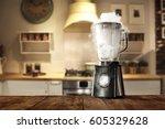 blender in kitchen  | Shutterstock . vector #605329628