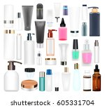 set of a real cosmetic tube and ... | Shutterstock .eps vector #605331704