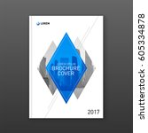 brochure cover design layout... | Shutterstock .eps vector #605334878