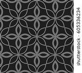 tiled seamless geometric... | Shutterstock .eps vector #605336234