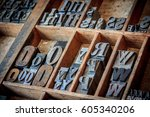 vintage typescript for... | Shutterstock . vector #605340206