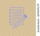 vector illustration of notebook ... | Shutterstock .eps vector #605349179