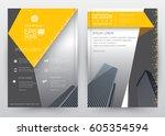 cover design vector template... | Shutterstock .eps vector #605354594