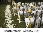 wedding ceremony  decoration | Shutterstock . vector #605357219