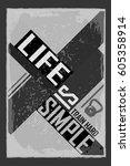fitness typographic grunge... | Shutterstock .eps vector #605358914