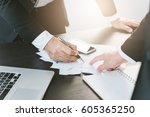 image of two young businessmen... | Shutterstock . vector #605365250
