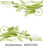 Green Flora Vector Design
