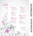 creative  pink color cv  ...