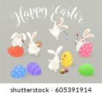 Cute Easter Bunnies Coloring...