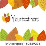 Colorful Autumnal Frame Made O...