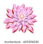 hand drawn and sketch lotus... | Shutterstock .eps vector #605396030