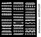 collection of hand drawn... | Shutterstock .eps vector #605396189