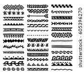 collection of hand drawn... | Shutterstock .eps vector #605396270