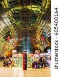 frankfurt main  germany   march ... | Shutterstock . vector #605400164