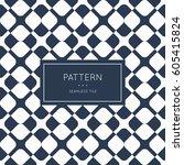 geometric seamless pattern.... | Shutterstock .eps vector #605415824