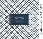 geometric seamless pattern.... | Shutterstock .eps vector #605415890