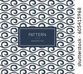 geometric seamless pattern.... | Shutterstock .eps vector #605415968