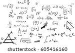 handwritten mathematic... | Shutterstock .eps vector #605416160