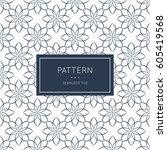 geometric seamless pattern.... | Shutterstock .eps vector #605419568