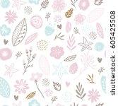 flower background  baby... | Shutterstock .eps vector #605425508