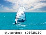windsurfing | Shutterstock . vector #605428190