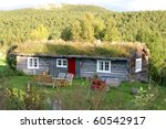 Summer pasture cottage - stock photo