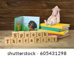 wooden blocks with space for... | Shutterstock . vector #605431298