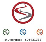 s circle business logo and... | Shutterstock .eps vector #605431388