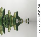 forest treeline with water... | Shutterstock . vector #605431844