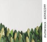 forest treeline made of green... | Shutterstock . vector #605432399