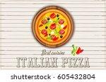 traditional italian food  ... | Shutterstock .eps vector #605432804