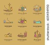 set of elements for logo design....   Shutterstock .eps vector #605454950