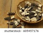 morel mushrooms | Shutterstock . vector #605457176