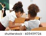 beautiful elementary...   Shutterstock . vector #605459726