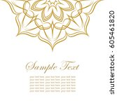 invitation card with lace...   Shutterstock .eps vector #605461820