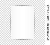 blank white paper sheets.... | Shutterstock .eps vector #605464136