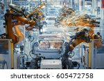 automobile production | Shutterstock . vector #605472758