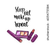 modern calligraphy style... | Shutterstock .eps vector #605475584