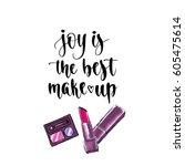 modern calligraphy style... | Shutterstock .eps vector #605475614