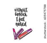 modern calligraphy style... | Shutterstock .eps vector #605475788